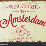 stock-vector-touristic-retro-vintage-greeting-sign-typographical-background-welcome-to-amsterdam-vector-158083709