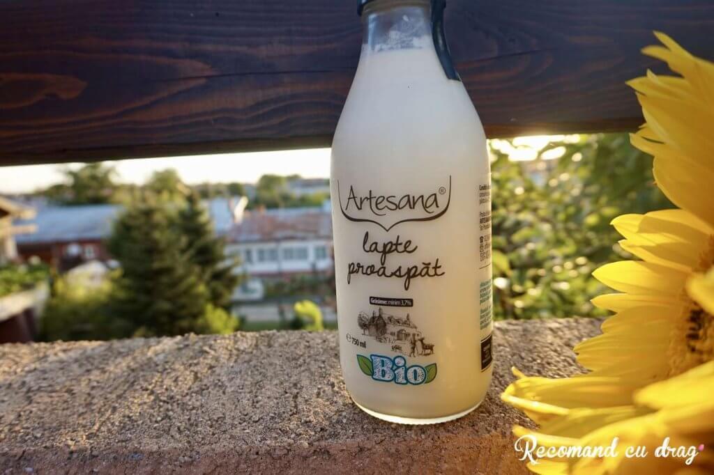 Lapte de vaca bio Artesana